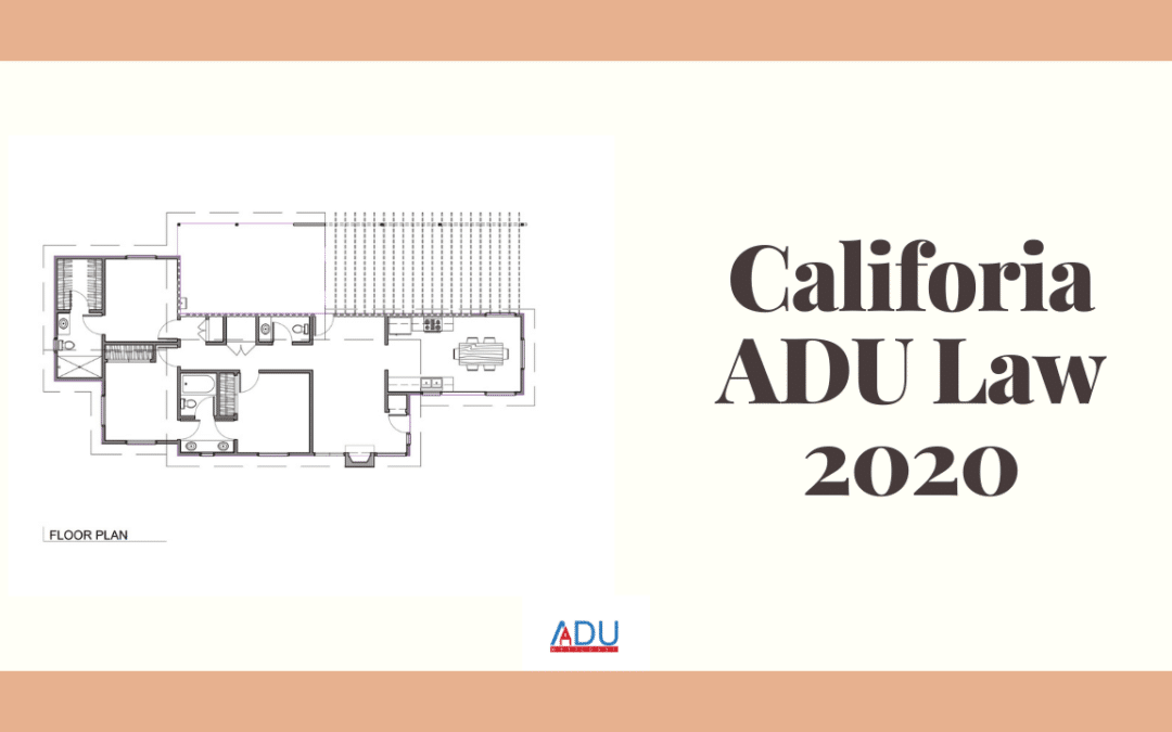 California ADU Law 2020